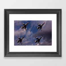 USAF Thunderbirds In Diamond Formation Framed Art Print
