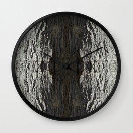 Oak Tree Bark Horizontal Nature Pattern by Debra Cortese Designs Wall Clock