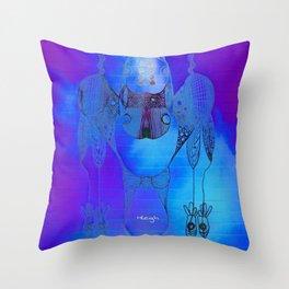 Tie Dye Scribble Throw Pillow