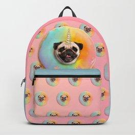 Unicorn Pug Pastel Donut Backpack