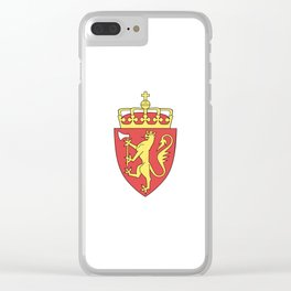 flag of Norway 7 -coast of arms Clear iPhone Case