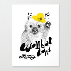 Wombat Love Canvas Print