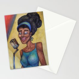 Blues Lady Stationery Cards
