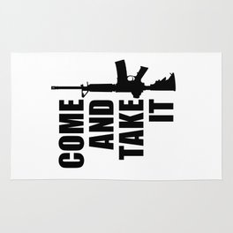 Come and Take it with AR-15 Rug
