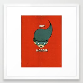 Boy Wonder {Red.} Framed Art Print