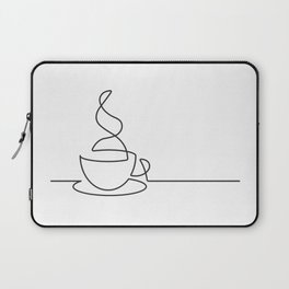Single Line Coffee Cup Illustration Laptop Sleeve