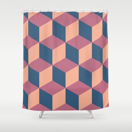Isometric Cube Pattern Shower Curtain