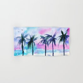 Summer vibes #3 || watercolor Hand & Bath Towel