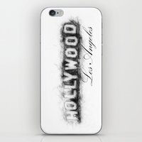 hollywood iPhone & iPod Skins featuring Hollywood by KitschyPopShop