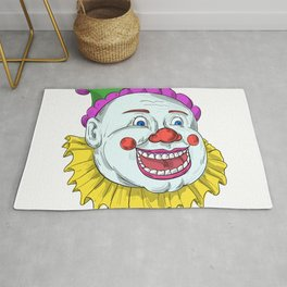 Vintage Circus Clown Smiling Drawing Rug