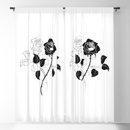 Two Roses Blackout Curtain