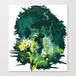 Biohazard Monster Canvas Print