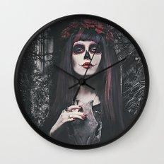 Catrina Day of the Dead Wall Clock