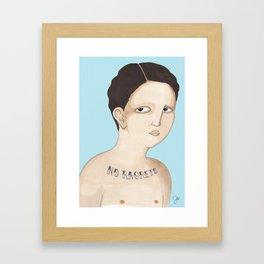 No ragrets Framed Art Print