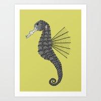 sea horse Art Prints featuring Sea Horse by Amanda James