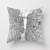library Throw Pillows featuring the Library by KadetKat