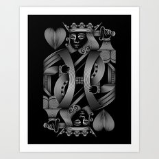 The king of hearts Art Print