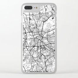 Dortmund Map Gray Clear iPhone Case