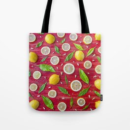 Fruits and leaves pattern (34) Tote Bag