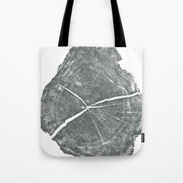 Locust Tree ring image, woodcut print Tote Bag