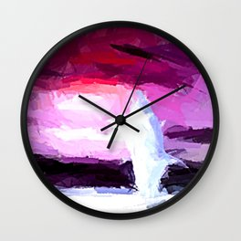 Delphin in Action. Wall Clock