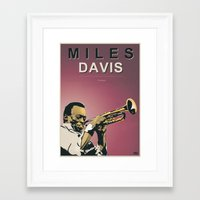 miles davis Framed Art Prints featuring Miles Davis by Danilo Piga