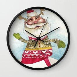 Steampunk Santa Wall Clock
