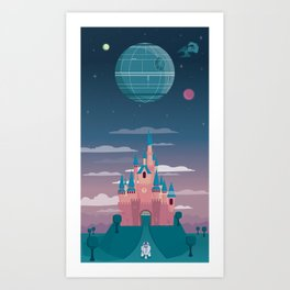 Sleeping Beauty and the Death Star Art Print
