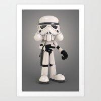 Skull Trooper Art Print