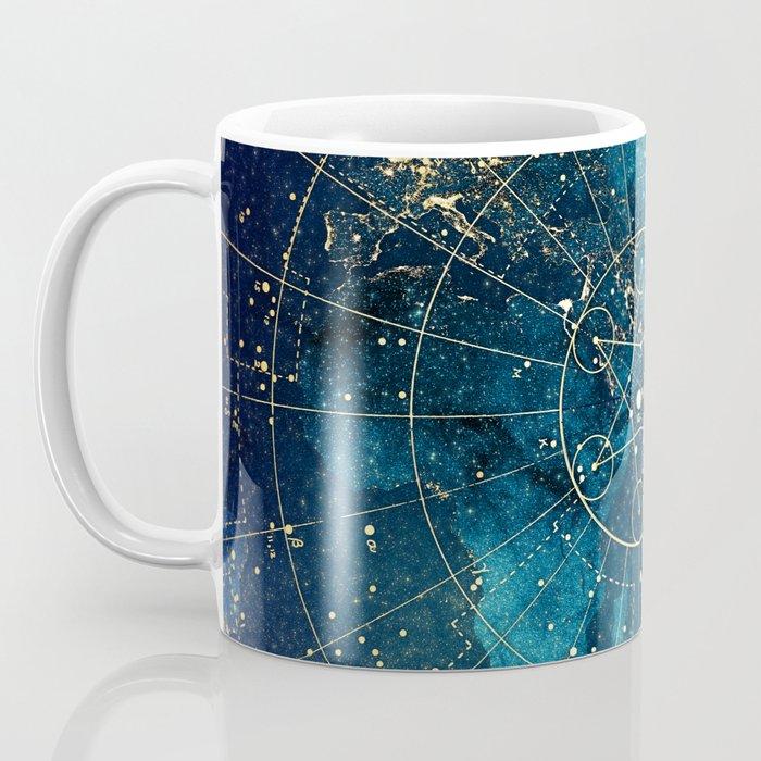 Star Map :: City Lights Kaffeebecher