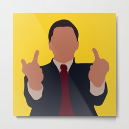 The Wolf of Wall Street movie Metal Print