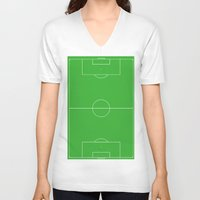 neymar V-neck T-shirts featuring My home by A&N2218