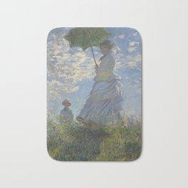 Art Woman with a Parasol Madame Monet and her son Claude Monet Bath Mat