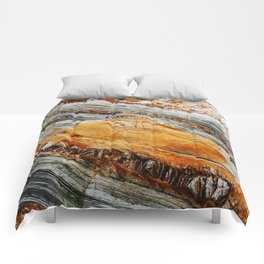 Gray Copper Marbled Petrified Wood Comforters