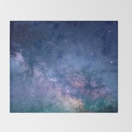 Milky Way Stars (Starry Night Sky) Throw Blanket