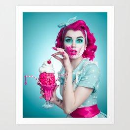 Zombie Housewife Art Print