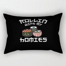 Rollin With My Homies Maki Rectangular Pillow
