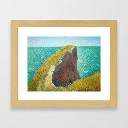 Le Bec du Hoc Grandcamp Georges Seurat - 1885 Impressionism Modern Populism Oil Painting Framed Art Print