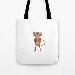 amorous female monkey with flower Tote Bag
