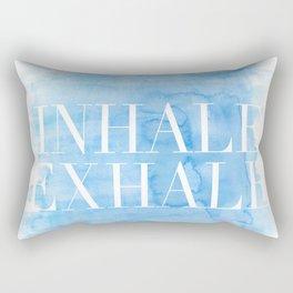 Enhale exhale quote Rectangular Pillow