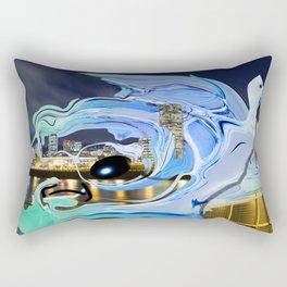 Face of the City Rectangular Pillow