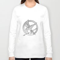 mockingjay Long Sleeve T-shirts featuring Mockingjay Symbol by Vera