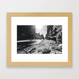 Snowing on 2nd Framed Art Print
