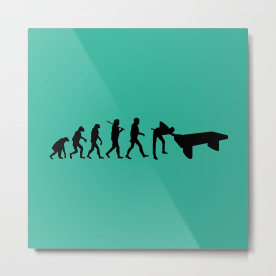 Evolution snooker Metal Print
