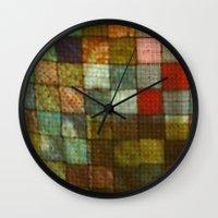 blanket Wall Clocks featuring Blanket by Lyssia Merrifield