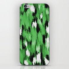 Green Leopard Pattern iPhone & iPod Skin