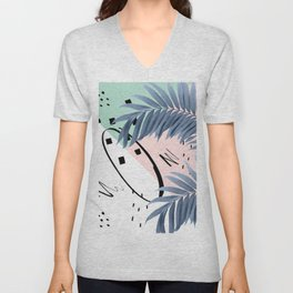 Summer Palms Cali Vibes Abstract Glam #1 #tropical #decor #art #society6 Unisex V-Neck
