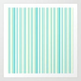 Stripes lines patel pattern Art Print