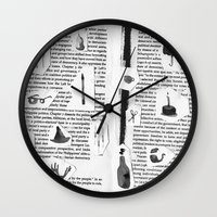 history Wall Clocks featuring History by Frances Alvarez
