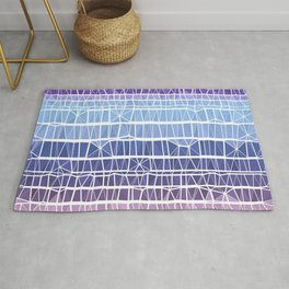 Low Poly Pink, Purple, and Blue Gradient Rug